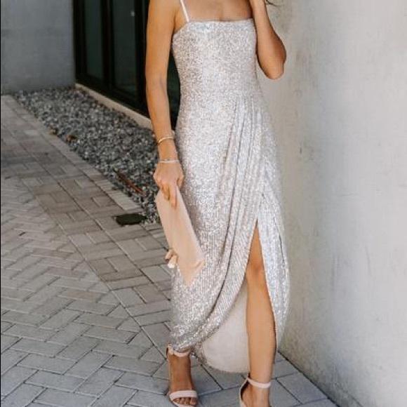 Vici Sequin Trumpet Dress